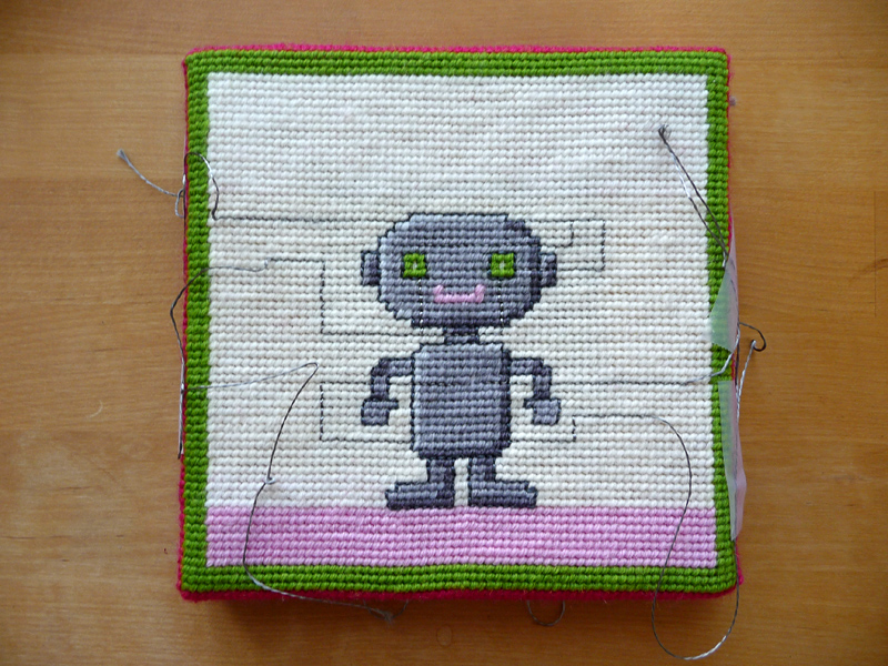 Needlepoint Robo wired