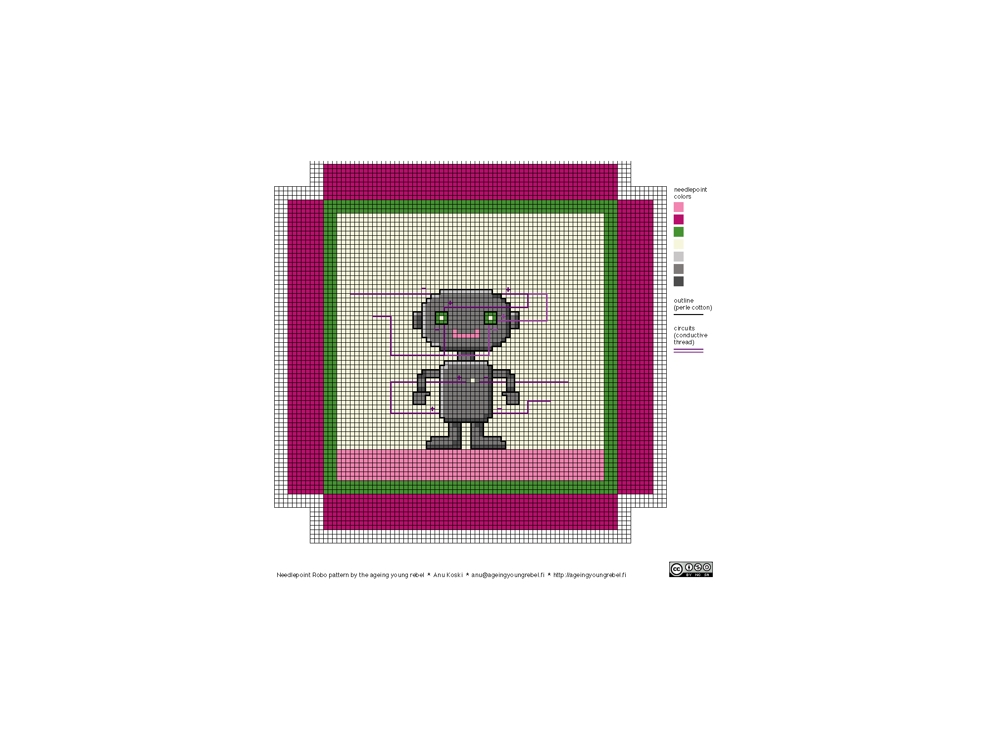needlepoint robo pattern