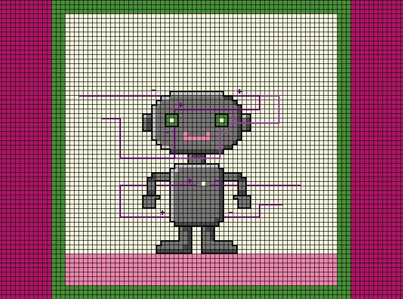 Needlepoint Robo