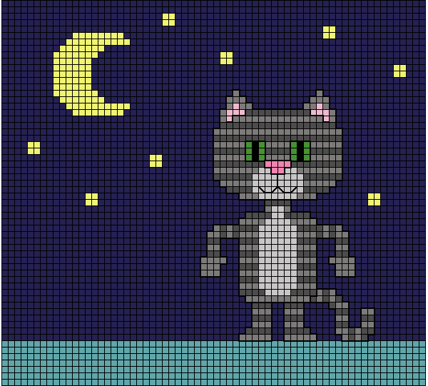 Needlepoint Luna