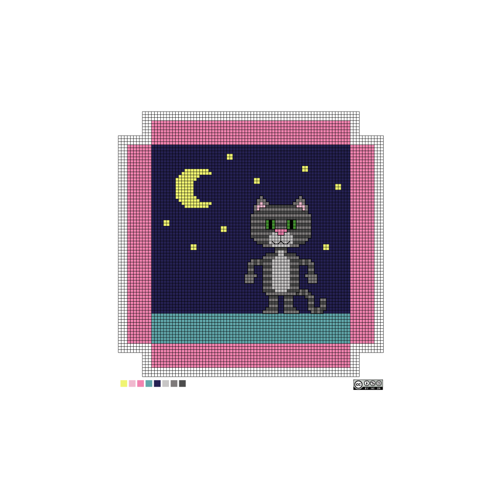 needlepoint Luna pattern