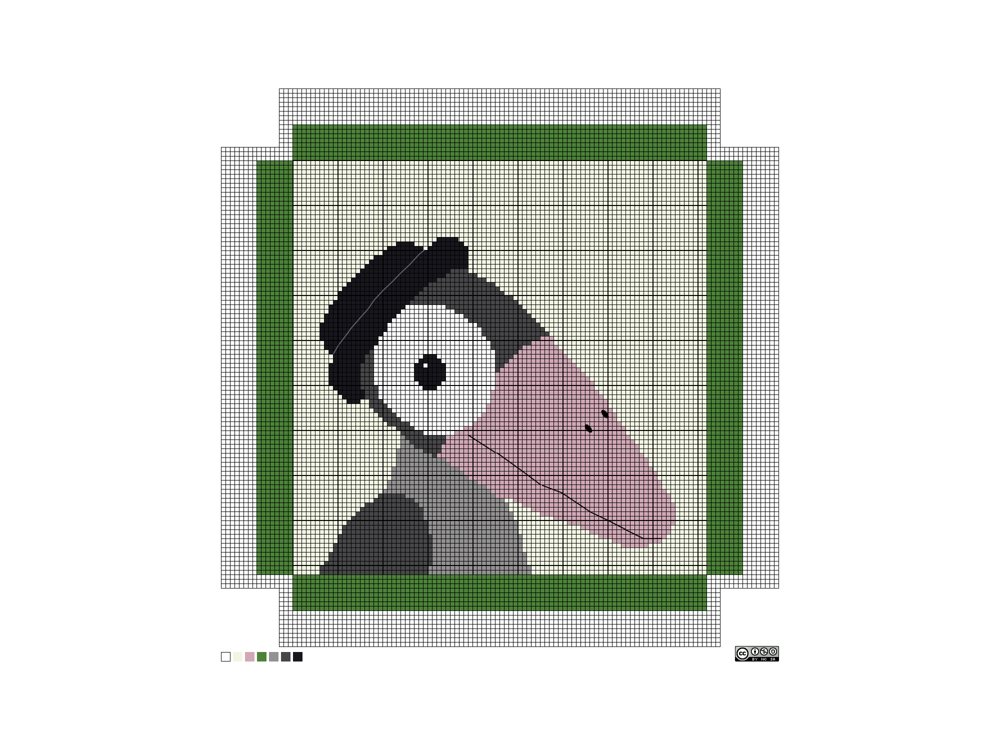 needlepoint jazz crow pattern
