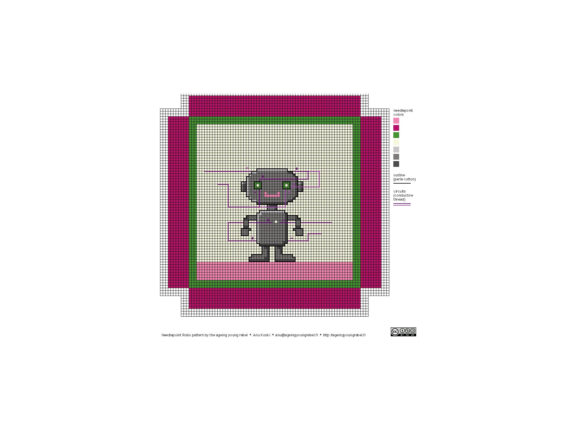 needlepoint robo pattern