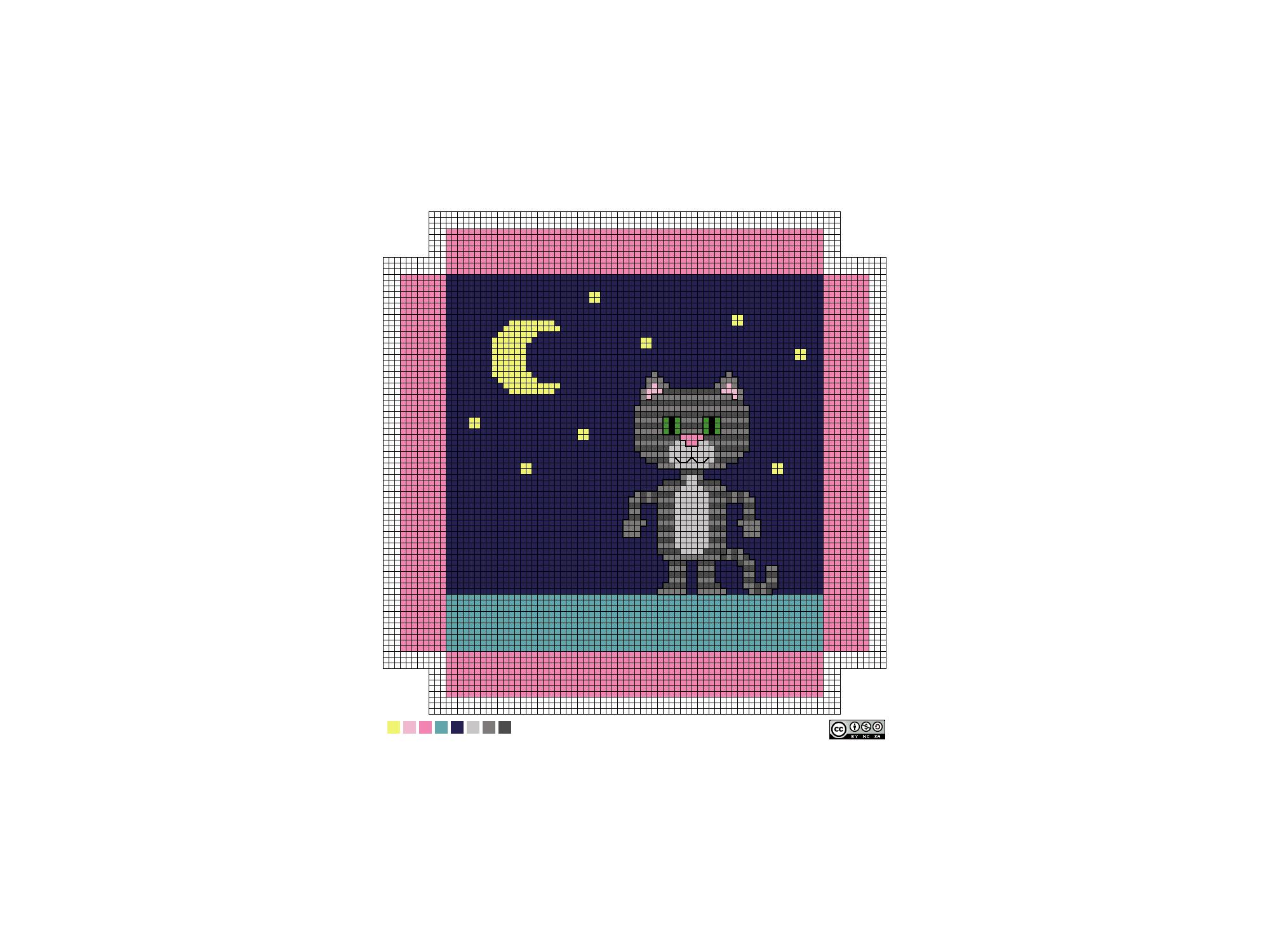 needlepoint Luna pattern