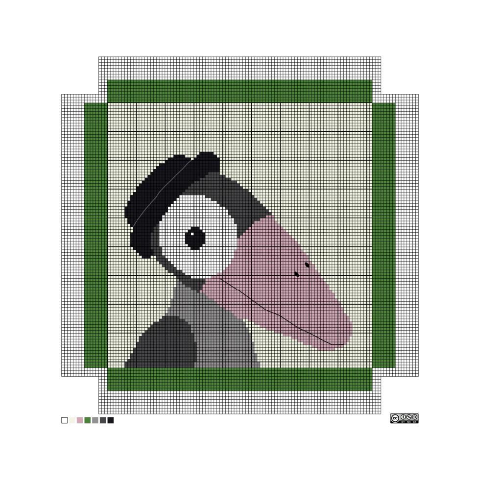 needlepoint jazz crow pattern